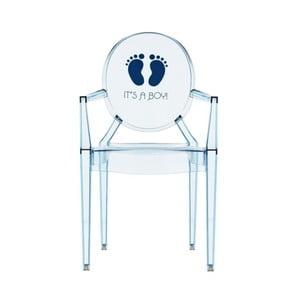 Detská transparentná stolička Kartell Lou Lou Ghost Boy