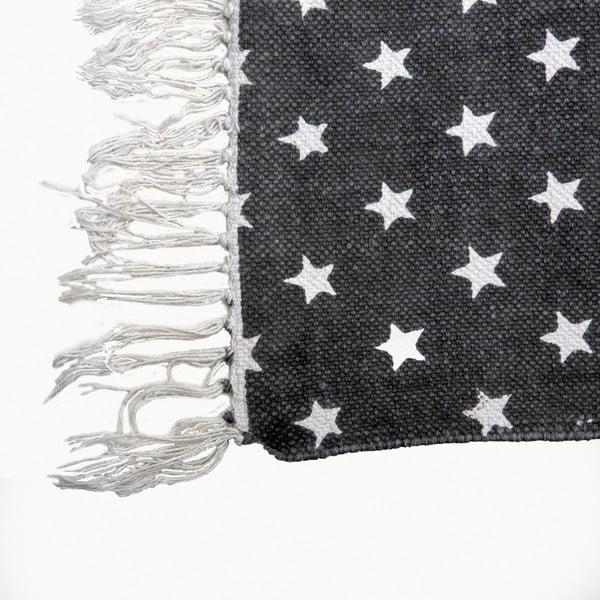 Koberec Estrella Black White, 70x140 cm
