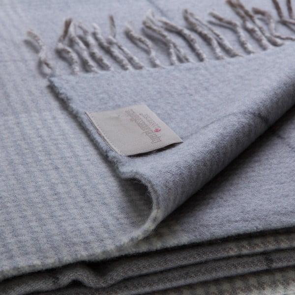 Vlnená prikrývka Murano 130x180 cm, sivá