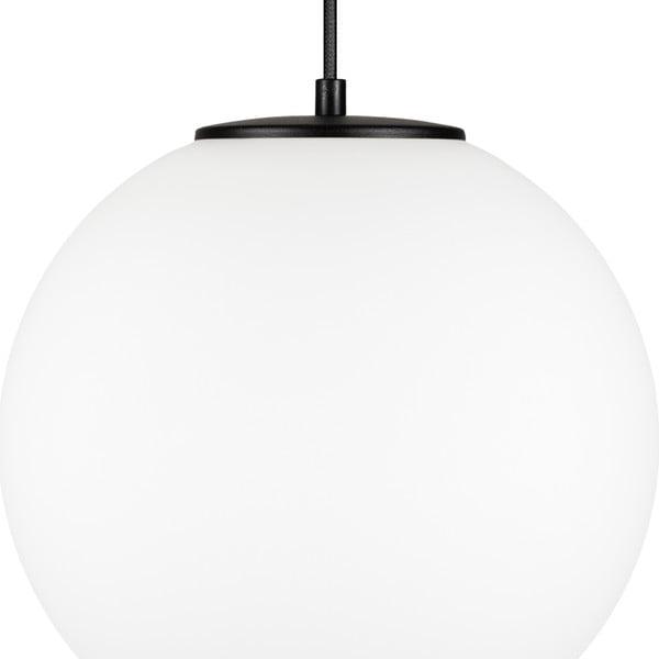 Biele závesné svietidlo s objímkou v čiernej farbe objímkou Sotto Luce TSUKI L