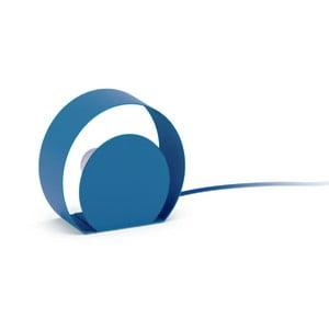 Modrá stojlní lampa MEME Design Chiocciola, Ø18,2cm