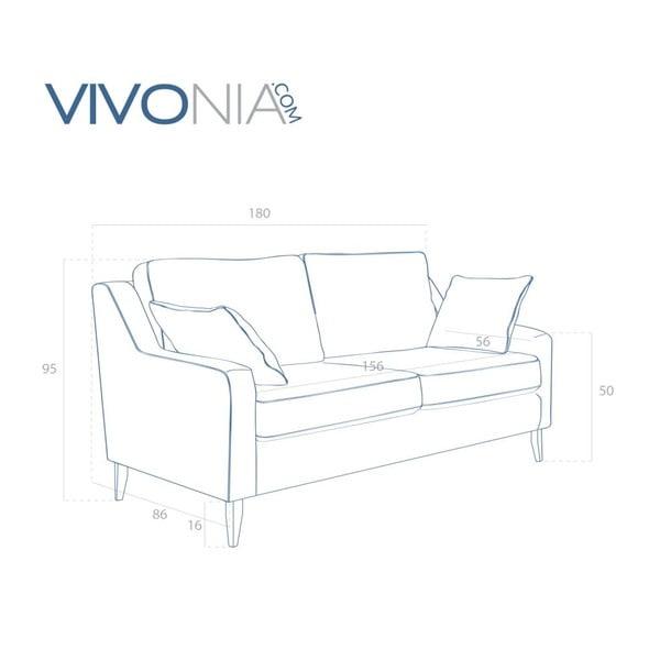 Hnedá pohovka pre troch Vivonita Bond