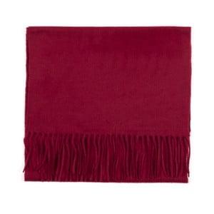 Tmavočervený kašmírový šál Bel cashmere Dina, 180×30cm