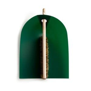 Lopatka s metličkou s prírodnými štetinami Broom, zelená