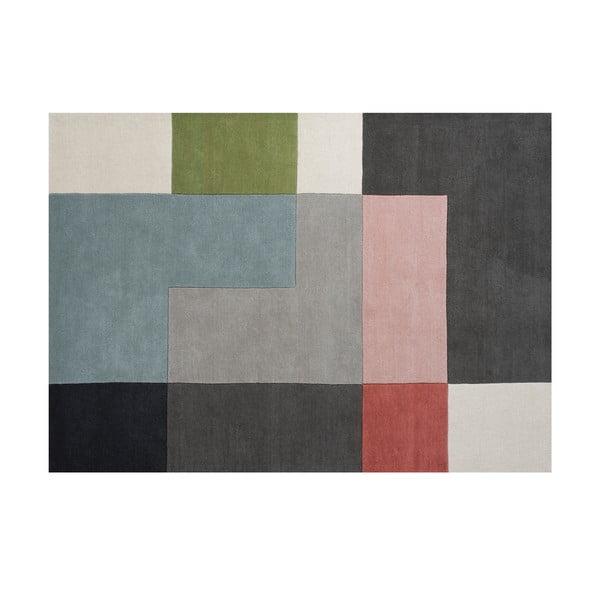 Vlnený koberec Tetris Powder, 170x240 cm