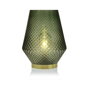 Zelená sklenená olejová LED lampa Versa Relax, ⌀21 cm