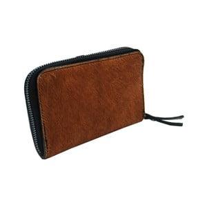Peňaženka z pravej hovädzej kože so vzorom Andrea Cardone Brown