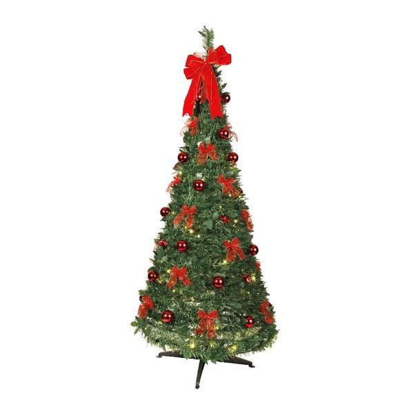 Svietiaci stromček Red Christmas, 190 cm
