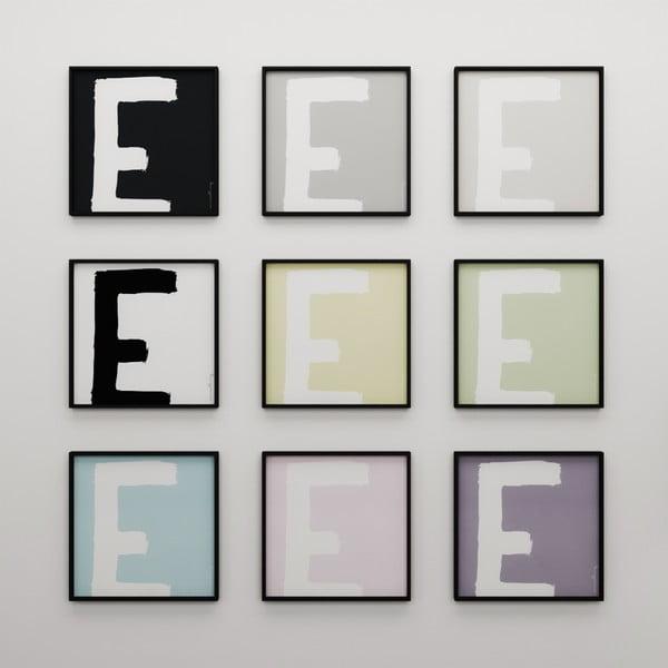 Plagát Litera E, 50x50 cm
