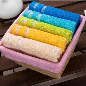 Sada 5 uterákov Pink Basket, 30x50 cm