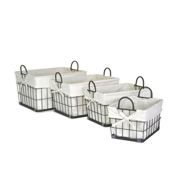 Sada 4 košíkov Fabric Baskets