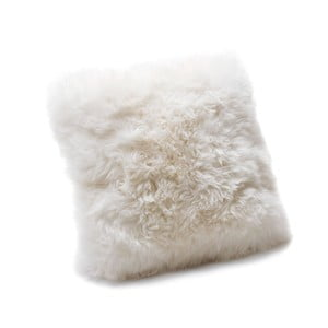 Biely vankúš Royal Dream Sheepskin, 30 x 30 cm