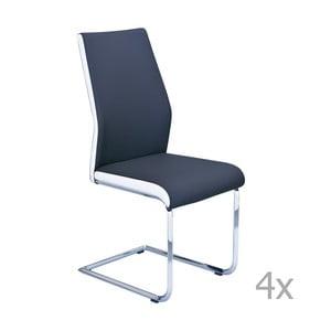 Sada 4 modrých jedálenských stoličiek 13Casa Lisbona