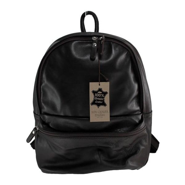 Černý kožený batoh Gio
