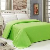 Prikrývka na posteľ Pique Green, 200×240 cm