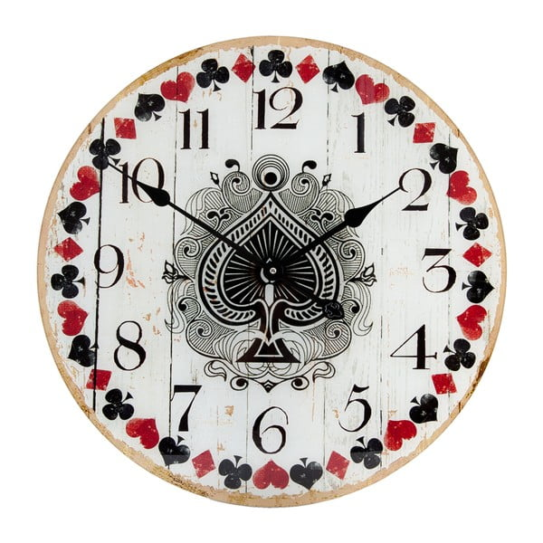 Nástenné hodiny Clayre & Eef Cards
