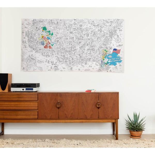Maľovanka USA, XXL (180 x 100 cm)
