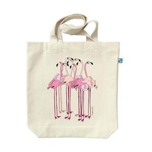 Plátenná taška Plameniaci