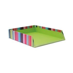 Zelený stojan na papier Remember Stripes