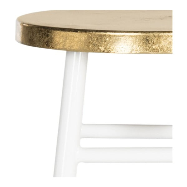 Bielo-zlatá stolička Safavieh Counterstool