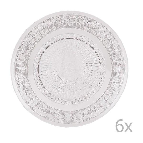 Sada 6 sklenených tanierov Clayre, 20 cm