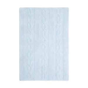 Modrý bavlnený ručne vyrobený koberec Lorena Canals Braids, 80 x 120 cm