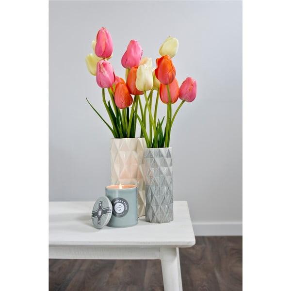 Bielo-sivá váza Hawke&Thorn,výška22cm