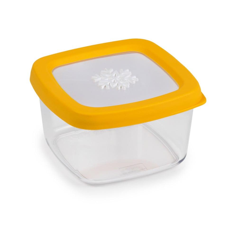 Žltá dóza na potraviny Snips Snowflake, 0,5 l