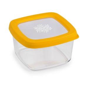 Žltá dóza na potraviny Snips Snowflake, 0,5l