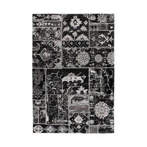 Čierny vzorovaný koberec Kayoom Memorial, 120 x 170 cm
