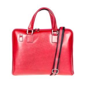 Červená kožená taška cez rameno Italia in Progress Giulio