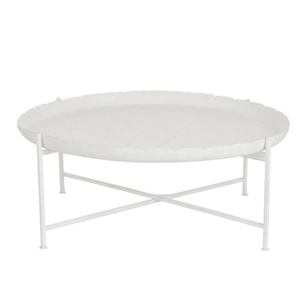 Biely odkladací stolík J-Line Love