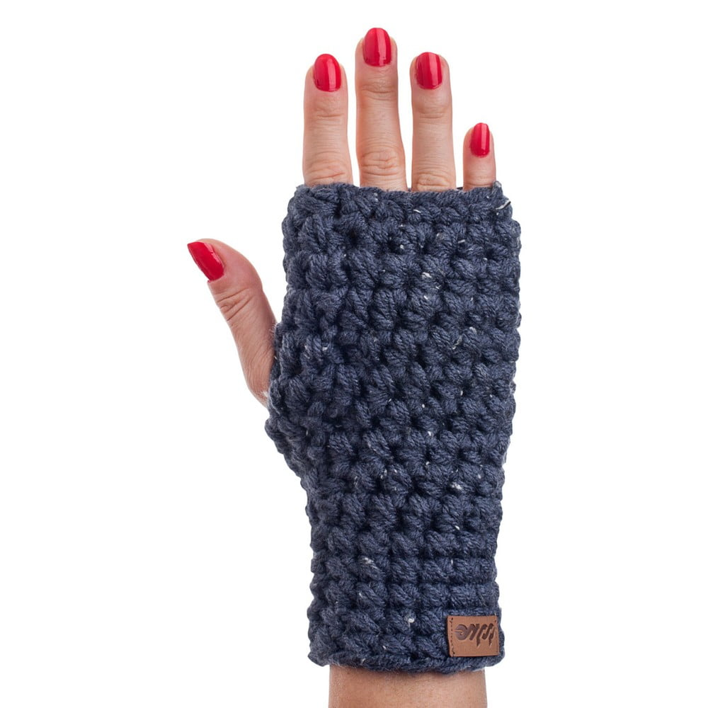 Tmavomodré ručne háčkované návleky DOKE Try