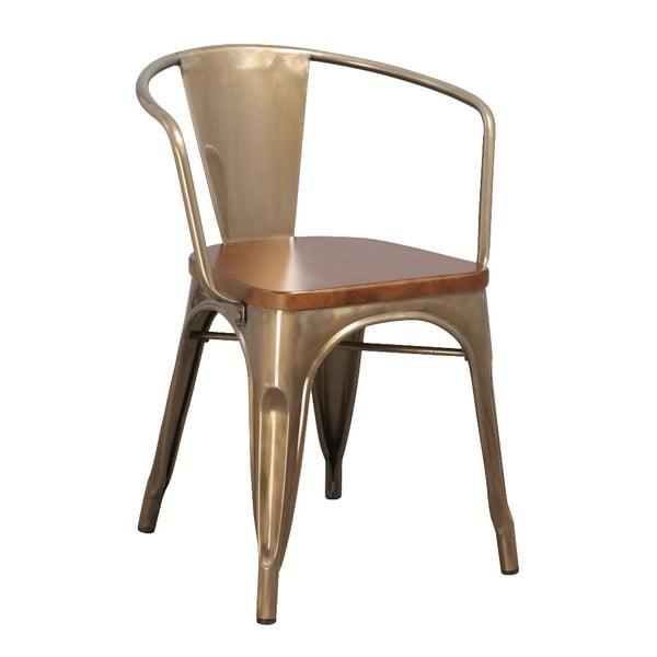 Kovová stolička Moycor, kávová