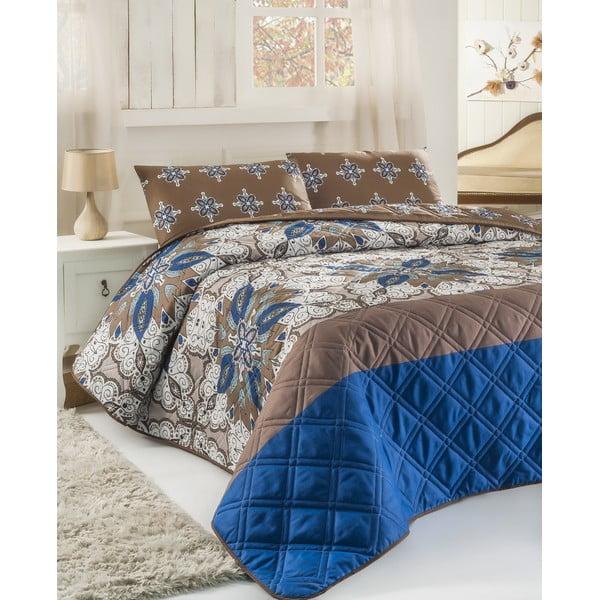 Sada prešívanej prikrývky na posteľ a dvoch vankúšov Double 282, 200x220 cm