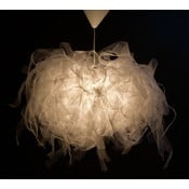 Stropné svetlo Ellen Munter vel. L, biele s bielym káblom