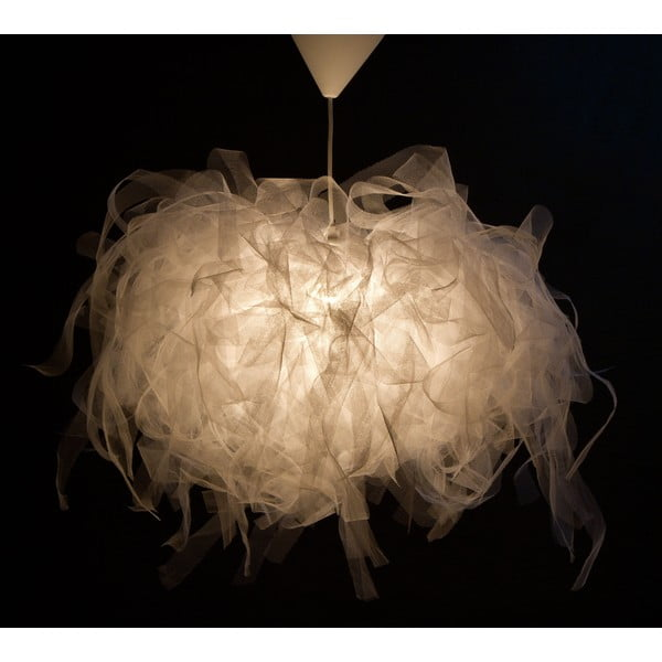 Stropné svetlo Ellen Munter vel. S, biele s bielym káblom