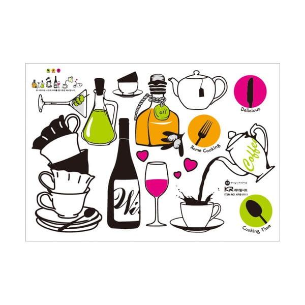 Sada samolepiek Ambiance Wine and Tea