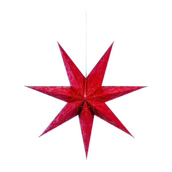 Svietiaca hviezda Aratorp Red, 75 cm