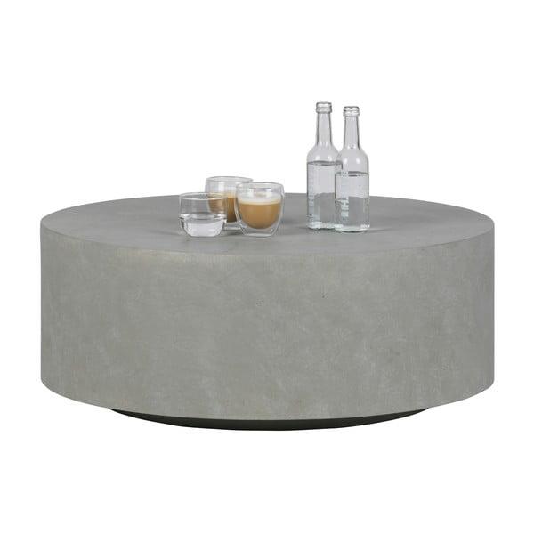 Sivý konferenčný stolík z vláknitého ílu WOOOD Dean, Ø 80cm