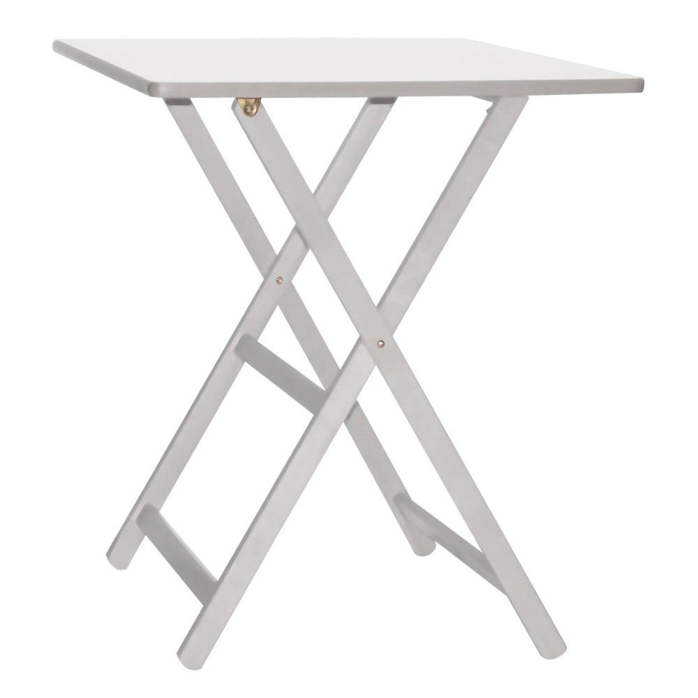 Biely drevený skladací stôl Valdomo Maison, 60 x 80 cm