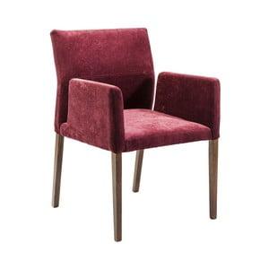 Stolička s opierkami vo vínovej farbe Kare Design Berry