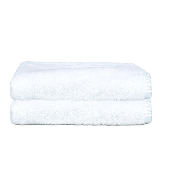 Sada 2 uterákov Whyte 50x90 cm, biela/modrá