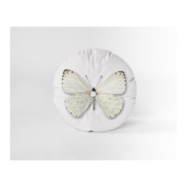 Zamatový vankúš Really Nice Things Butterfly, Ø45cm