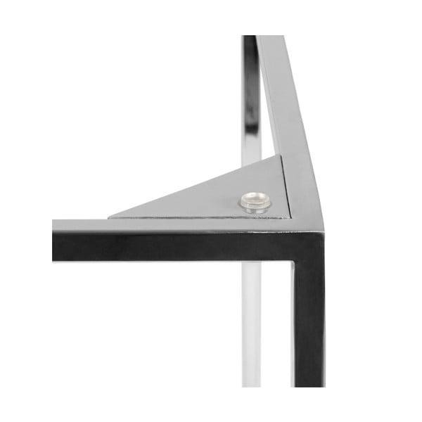 Hnedý mramorový konferenčný stolík s chrómovými nohami TemaHome Gleam, 50cm