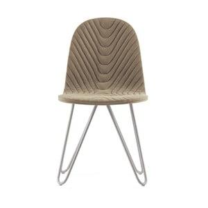 Béžová stolička s kovovými nohami IKER Mannequin X Wave