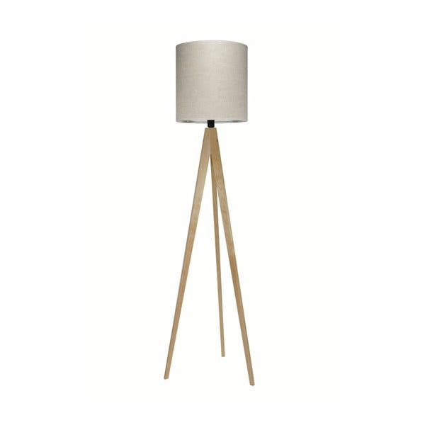 Krémová stojacia lampa Artist, breza, 158 cm