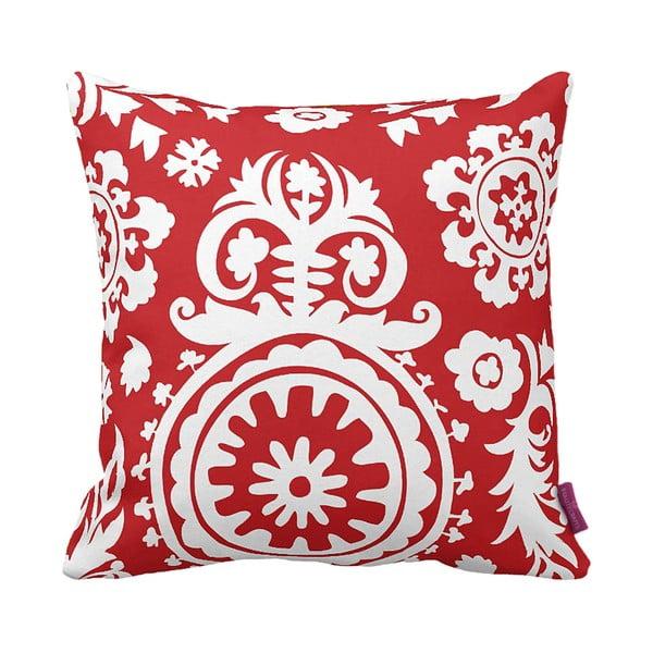 Červeno-biely vankúš Elegant Red, 43×43cm
