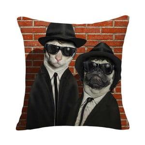 Obliečka na vankúš Mafia Dog & Cat, 45x45 cm