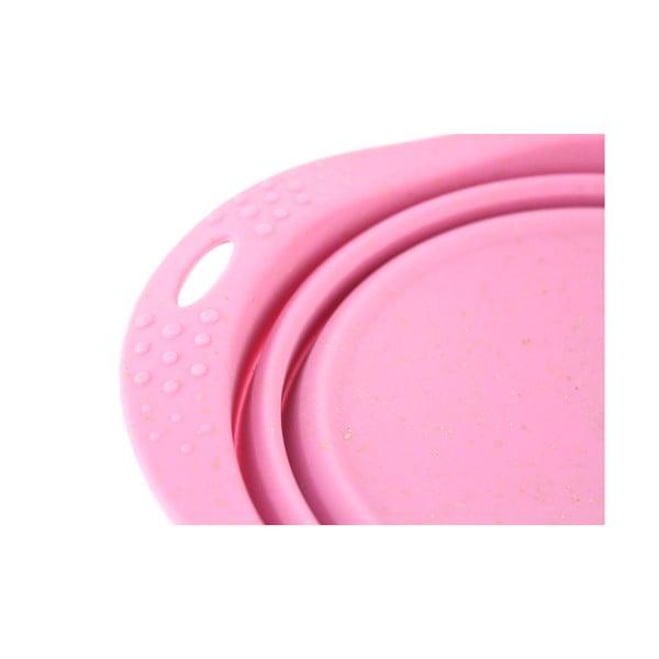 Cestovná miska Beco Travel Bowl 18.5 cm, ružová